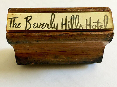 The Beverly Hills Hotel  /  Rubber Stamp  /  Vintage  /  Circa 1972