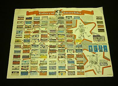Vintage Bobby Moore Gallery of Soccer Sides 1971 Daily Mirror 100% Complete Rare