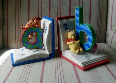 Beautiful Winnie the Pooh Book Ends - Nursery/Children's Bedroom