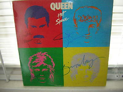 Queen Signed Lp Hot Space X4 Freddie Mercury Brain May X4