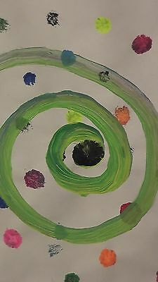 Abstract Art Painting - Original Artist Direct - 3D Spiral Galaxy Wormhole Space