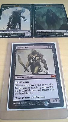 MTG - Grave Titan - Mythic - M12 - Magic the Gathering ((and 2x Zombie Tokens!))