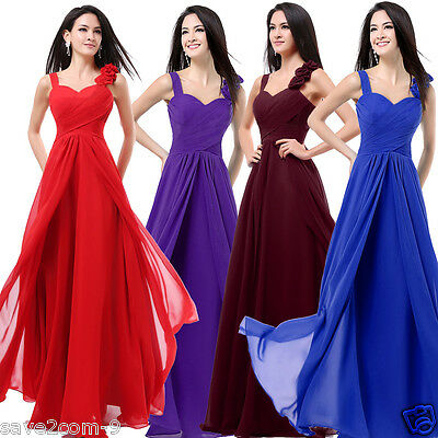 New Formal Long Evening Ball Gown Party Prom Bridesmaid Dress Size 10-14