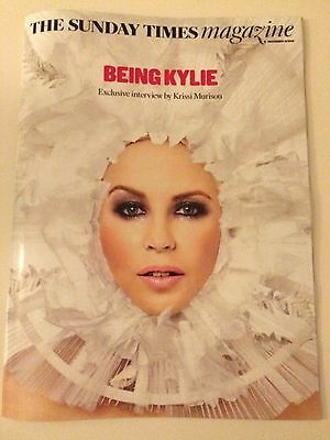 Kylie Minogue Sunday Times Magazine Dec 2016 Snow Queen Cover And Article - New