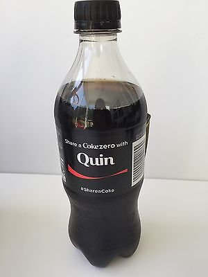 Share a Coke ZERO with QUIN Collectible Bottle Coca Cola Name