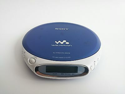 Sony CD Walkman D-EJ361 Blue Portable CD Player Discman - Tested Works