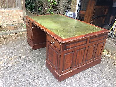 Antique Large Chesterfield Partners Writing Desk