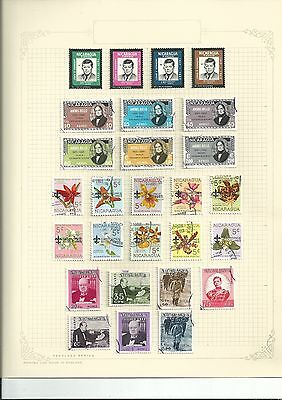 Nicaragua Nice Lot On Page Kennedy-Scouts-Churchill [Ref 4]