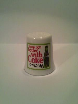 Things Go Better With Coke Collectible Porcelain Thimble
