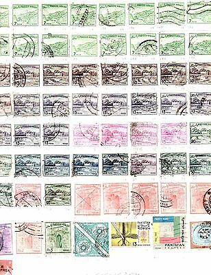 Pakistan Stamps 1961 - 1971 Three Stock Sheets 140 Stamps Inc Bahawalpur
