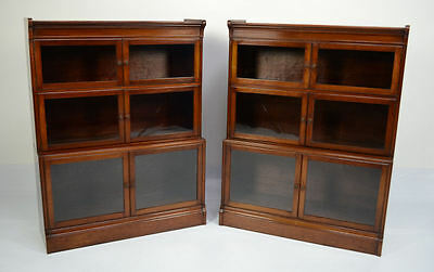 Pair Of Mahogany Globe Wernicke Style Barristers Bookcases Circa 1900