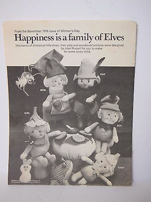 Elf Doll Pattern from 1978 Woman's Day