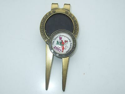1 INCH Flat Golf ball marker & Magnetic Divot Repair Tool 2007 OPEN Carnoustie