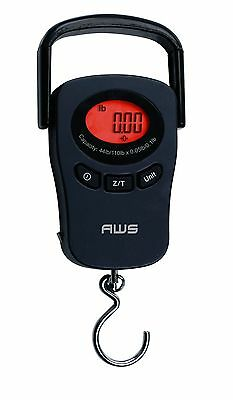 AWS PK-110 110lbs x 0.1lb Digital Hanging Scale Peak-Hold Pull Force Luggage