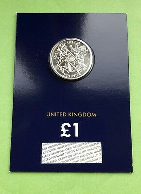 Royal Mint 2016 National Animals, The Last Round Pound UK £1 Certified BU Coin