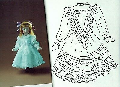 "16""antique French Jumeau Doll Victorian Insert Lace Dress&undies Pattern German"