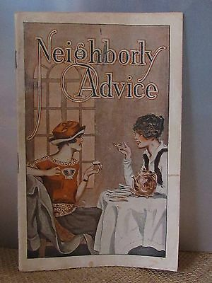 Old Vtg Neighborly Advice Booklet Brochure 1930's taking care of the home