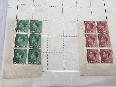 GB UK various early Kings period stamps incl side controls etc nice on pages