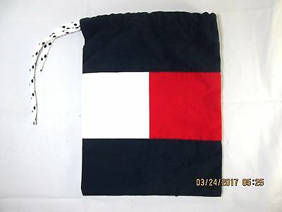 Tommy Hilfiger Flag Swim Trunks Gym Laundry Carrying  Drawstring Bag  ONLY
