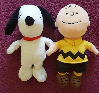 Snoopy and Charlie Brown Ty beanies, mint