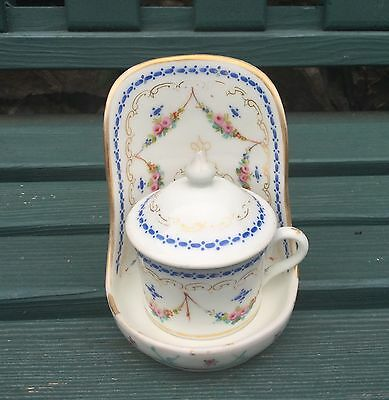 Antique French Pot De Creme, Serving Pot, Sarreguemines, Limoges, Sevres?