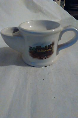 """Wade Shaving Mug with Picture of """"Steam Coach by Gurney 1827"""" 9x19cm"""