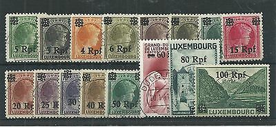 Germany Luxembourg Occupation 1940 Set Used