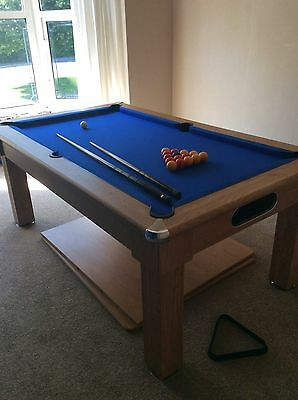 Signature Oxford 6ft Slate Bed Pool / Dining Table + Accessories