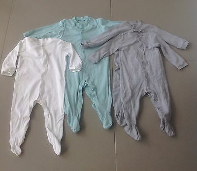 M&S Baby Boy Sleep Suit / Baby Grow Bundle 6-12 Months