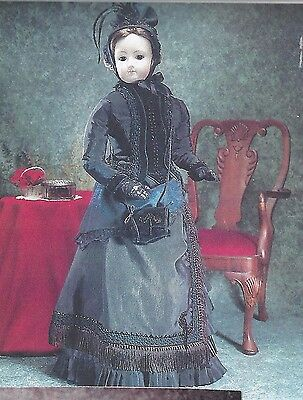 "31""antique French Fashion F.g.lady Doll Bustle/beaded Dress/skirt&jacket Pattern"