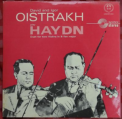 "David and Igor Oistrakh play Haydn – Duet For Two Violins In B flat major 7"" Ex"