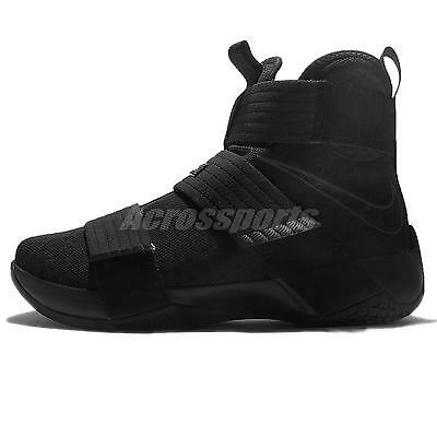 new styles 8dbb3 86d9c clearance nike lebron soldier 10 negro space ba6a7 aed47