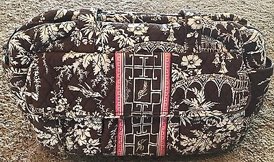Vera Bradley Imperial Brown White and Pink Diaper Bag and Changing Mat