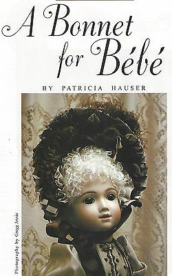 "18""cloth Art Toddler Boy&girl Doll/bebe French Bonnet/mohair Wig Making Pattern"