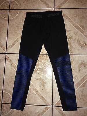 Men's Adidas Climalite Tights Size XL X-Large Blue Black Fitness Running Yoga