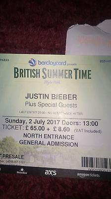 British Summertime- Hyde Park - JUSTIN BIEBER plus Guests X2 Tickets