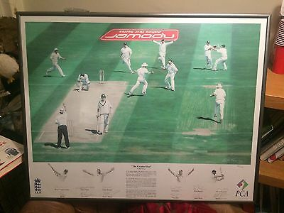 Ashes Memorabilia, Signed Print Painting by the 2005 England Ashes test team