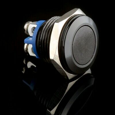 Black 16mm Metal Push Button Momentary Reset Switch 12V DC Car/Boat/Machine