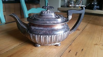 Antique Walker & Hall Silver Plated Bulbous Teapot