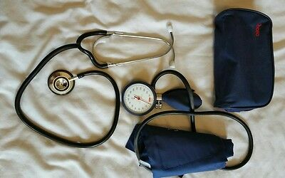 Boso Aneroid Sphygmomanometer and case with stethoscope blood pressure