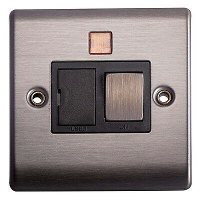 Lyvia 13a DP Sw Fuse Connection Unit Slate Finish 1g