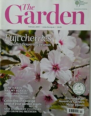 RHS The Garden Magazine February 2013 including Raspberry,  Pansies, Containers