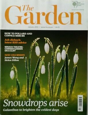 RHS The Garden Magazine January  2013 including Aspidistra,  Rhododendron
