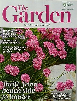 RHS The Garden Magazine April 2013 including Orchids, Tulips, Amelanchiers