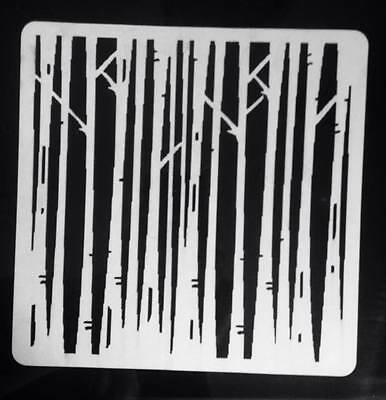 "Birch Tree's  6""x6"" Stencil Art Journalling Cakes Cards Crafts Mylar"