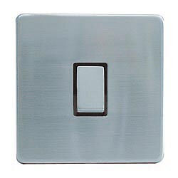 Dencon 10A, 1 Gang, 2 Way Switch Stainless Steel - Screw less frontplate