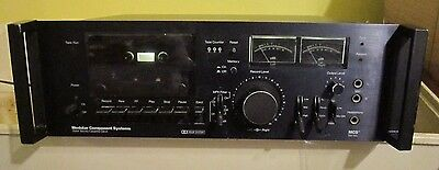 MCS MODULAR COMPONENT SYSTEM STEREO CASSETTE TAPE DECK MODEL 3564 Powers up !
