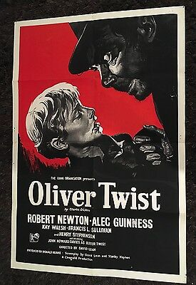 OLIVER TWIST English 1sh 1948 Pre Release  different art of Robert Newton