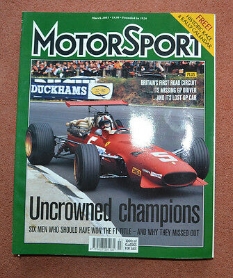 Motor Sport March 2003 6 drivers who should been F1 champions, Clan Crusader