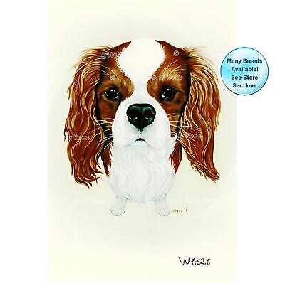 Cavalier King Charles Spaniel Art Dog Print Pet Portrait Picture